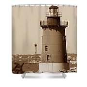 Delaware Breakwater Lighthouse Shower Curtain