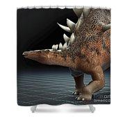 Dinosaur Kentrosaurus Shower Curtain