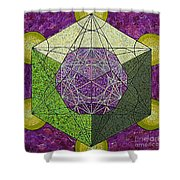 Dodecahedron In A Metatron's Cube Shower Curtain