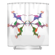 6 Dragons Breathing Fire Shower Curtain
