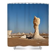 Egytians White Desert Shower Curtain