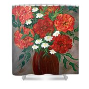 6 Flowers Shower Curtain
