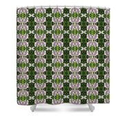 Flowers From Cherryhill Nj America Silken Sparkle Purple Tone Graphically Enhanced Innovative Patter Shower Curtain