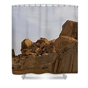 Hampi Landscape Shower Curtain