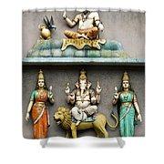 Hindu Temple With Indian Gods Kuala Lumpur Malaysia Shower Curtain