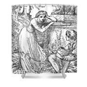 Love Lyrics And Valentine Verses, 1875 Shower Curtain