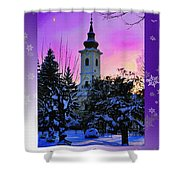 Christmas Card 21 Shower Curtain