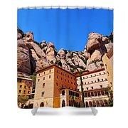 Monastery In Montserrat Shower Curtain