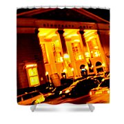 Moving Fast In The Town At Night  Shower Curtain