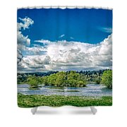 Nisqually Wildlife Refuge Shower Curtain