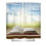 Open Book Shower Curtain