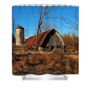 Paeonian Springs Barn Shower Curtain