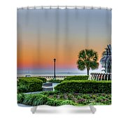 Morning Pineapple Shower Curtain