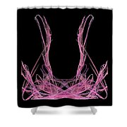 Pink Fractal Shower Curtain
