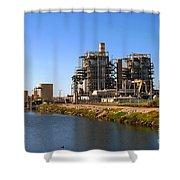 Power Station Shower Curtain