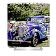 Psychedelic Classic Lagonda Shower Curtain