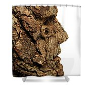 Revered   A Natural Portrait Bust Sculpture By Adam Long Shower Curtain