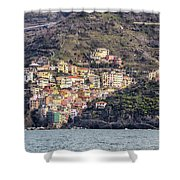 Riomaggiore Shower Curtain