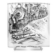 Roosevelt Cartoon, 1906 Shower Curtain