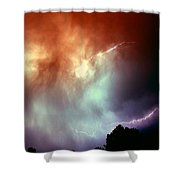 Rounds 2 3 Late Night Nebraska Storms Shower Curtain