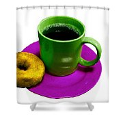 Saturday Morning Breakfast Shower Curtain
