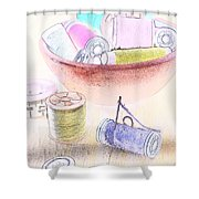 Sewing Supplies Shower Curtain
