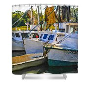 Shrimp Boats Shower Curtain