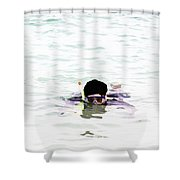 Snorkelling In The Lagoon Inside The Coral Reef Shower Curtain