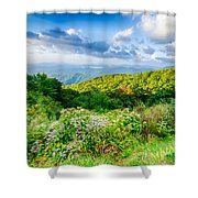 Sunrise Over Blue Ridge Mountains Scenic Overlook  Shower Curtain