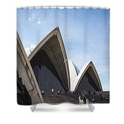 Sydney Opera House Detail In Australia  Shower Curtain
