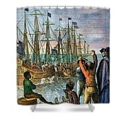 The Boston Tea Party, 1773 Shower Curtain by Granger