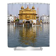 The Golden Temple At Amritsar India Shower Curtain