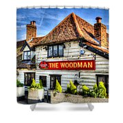The Woodman Pub Shower Curtain