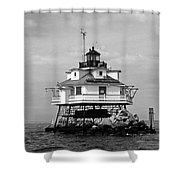 Thomas Point Shoal Lighthouse Shower Curtain