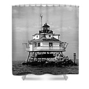 Thomas Point Shoal Lighthouse Shower Curtain