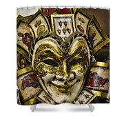 Venetian Carnaval Mask Shower Curtain