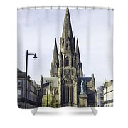View Of Episcopal Cathedral In Edinburgh Shower Curtain