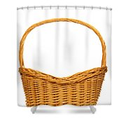 Wicker Basket Number Seven Shower Curtain