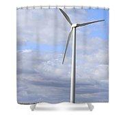 Wind Powered Electric Turbine Shower Curtain