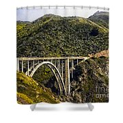 604 Det  Big Sur Bridge Shower Curtain