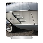 61 Corvette-grey-sidepanel-9241 Shower Curtain
