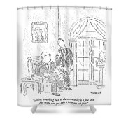 Giving Something Back To The Community Is A Fine Shower Curtain