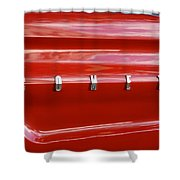 64 Red Comet Shower Curtain