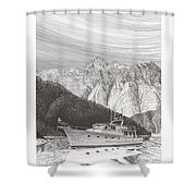 Desolation Sound Quiet Anchorage     Shower Curtain