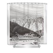 Desolation Sound Quiet Anchorage     Shower Curtain