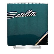 65 Plymouth Satellite Logo-8503 Shower Curtain