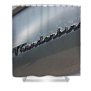 65 T-bird Emblem-7876 Shower Curtain
