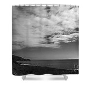 651 Bw The Couds Of Big Sur Shower Curtain