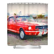 66 Mustang Gt 350 Shower Curtain