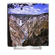 661 Sl Yellowstone Canyon  Shower Curtain